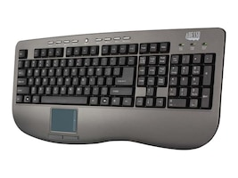 Adesso Win-Touch Pro Desktop Multimeida Touchpad Keyboard, Dark Gray, USB, AKB-430UG, 7593531, Keyboards & Keypads
