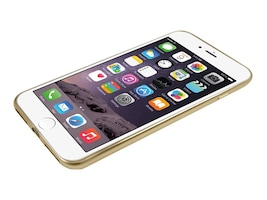 Macally Ultra Thin Soft Transparent Case w  Matte Gold Trim for iPhone 7, LUXRP7MGO, 32701709, Carrying Cases - Phones/PDAs