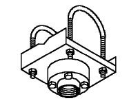Peerless Truss Ceiling Adapter with Decoupler, DCT100, 6835535, Stands & Mounts - AV