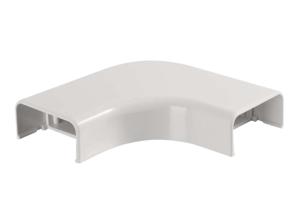 C2G Wiremold Uniduct 2900 Bend Radius Compliant Flat Elbow, White