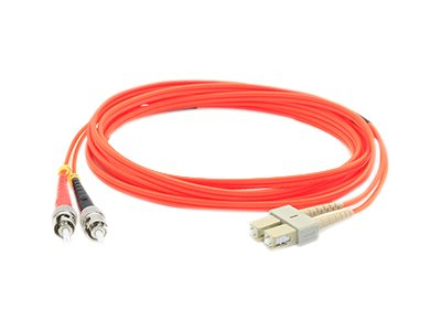 ACP-EP Fibre MMF LC ST 62.5 OM1 Duplex Patch Cable, Orange, 7m, ADD-ST-LC-7M6MMF