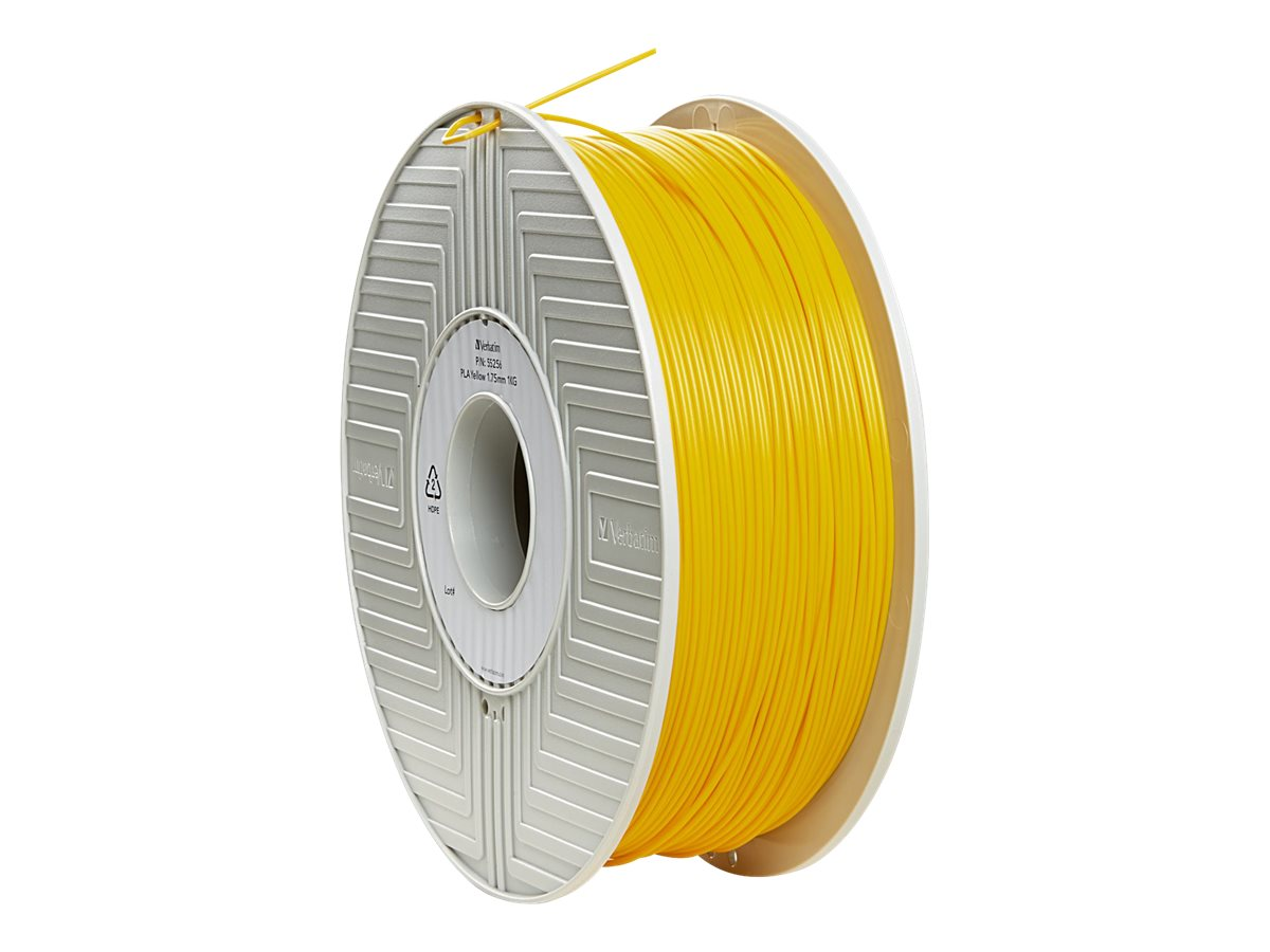 Verbatim Yellow 1.75mm 1kg PLA 3D Filament, 55256