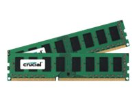 Crucial 16GB PC3L-12800 240-pin DDR3L SDRAM UDIMM Kit, CT2K102464BD160B, 30730291, Memory