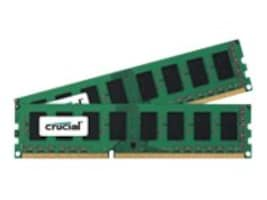 Crucial 8GB PC3-12800 240-pin DDR3 SDRAM UDIMM Kit, CT2K51264BD160BJ, 32393515, Memory