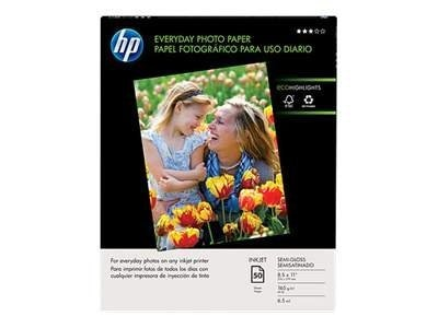 HP 8.5 x 11 Everday Semi-Gloss Photo Paper (50-sheets)