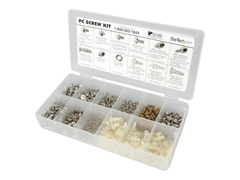 StarTech.com PC Screw Kit (12 Assorted Screws), PCSCREWKIT, 220133, Rack Mount Accessories