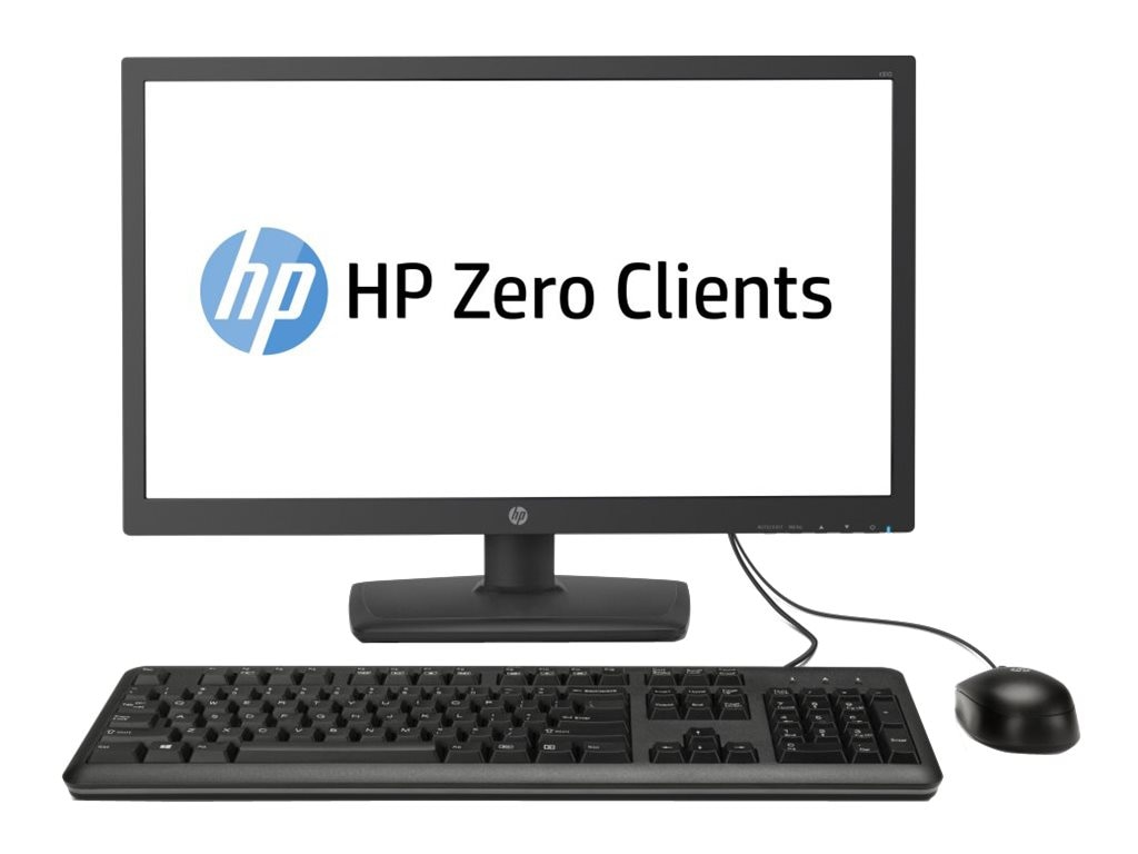 HP t310 AIO Zero Client PCoIP TERA2321 512MB RAM 32MB Flash GbE 23.6 LED NoOS, J2N80AA#ABA, 17806861, Thin Client Hardware