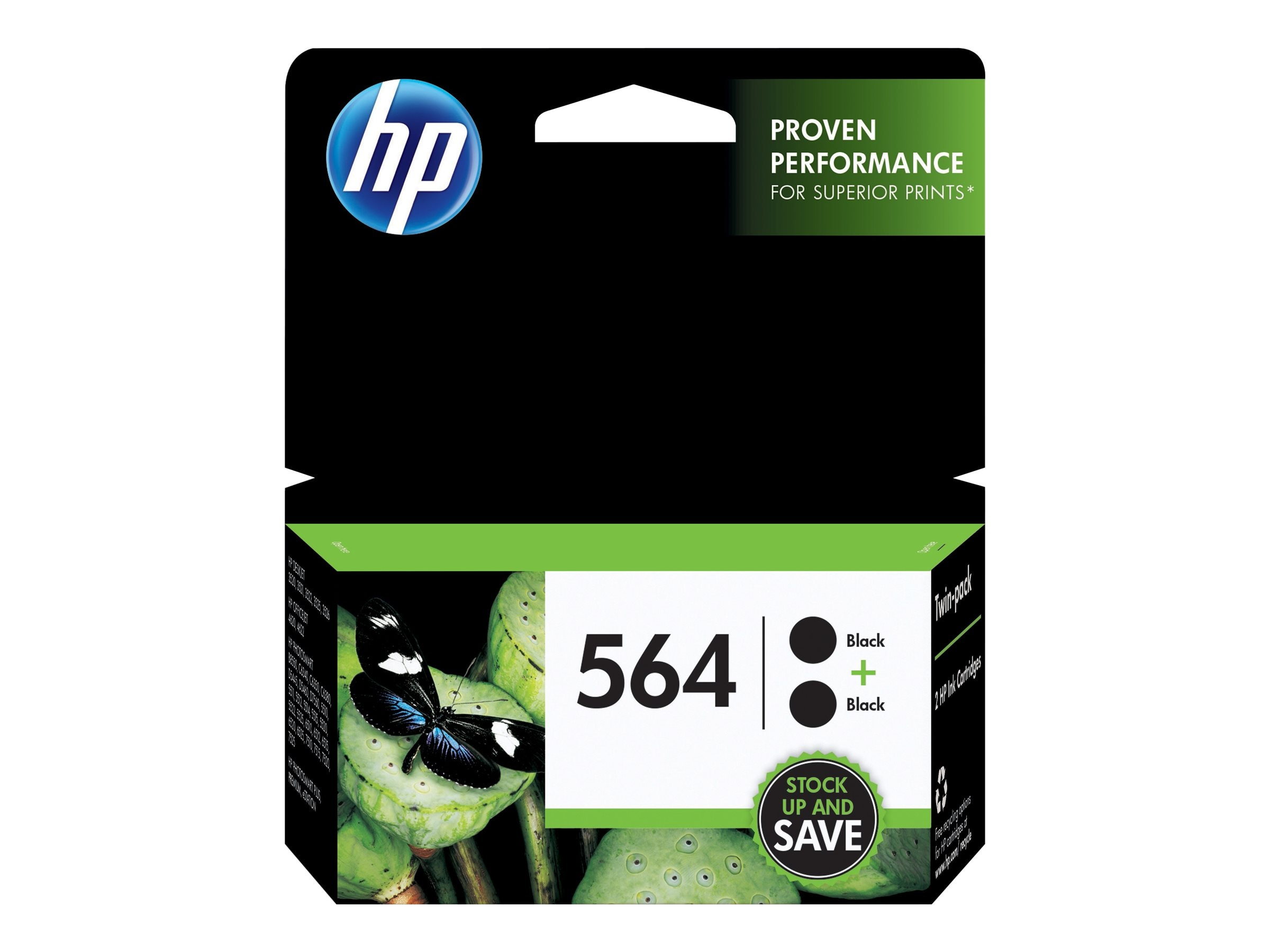 HP 564 (C2P51FN) 2-pack Black Original Ink Cartridges