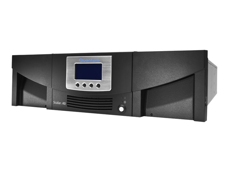 Quantum Scalar i40 Tape Library w  LTO-4 Tape Drive, 25 Slots & FC 4Gb s Connector, LSC14-CH4G-119H