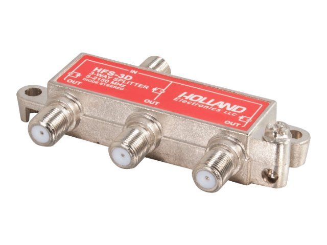 C2G High-Frequency 3-Way Splitter, 41021, 16095972, Video Extenders & Splitters