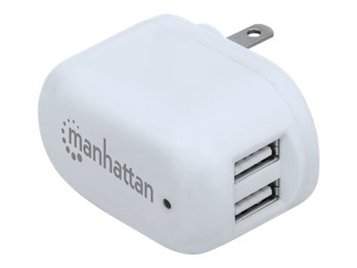 Manhattan MH USB Charger 2-Port 2.1A 1A, 101738, 20935989, Battery Chargers