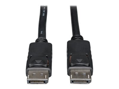 Tripp Lite DisplayPort M M Monitor Cable with Latches, Black, 50ft, P580-050