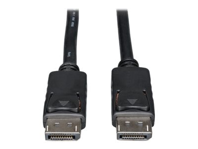 Tripp Lite DisplayPort M M Cable with Latches, Black, 1ft, P580-001, 18401523, Cables