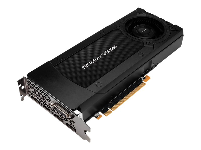 PNY GeForce GTX 1060 PCIe Graphics Card, 6GB GDDR5, VCGGTX10606PB-CG