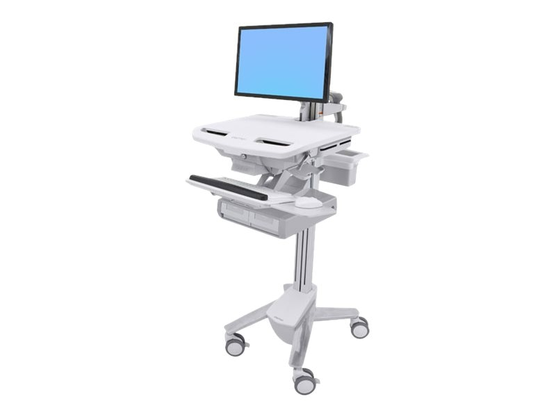 Ergotron StyleView Cart with LCD Arm, 2 Drawers, SV43-12A0-0