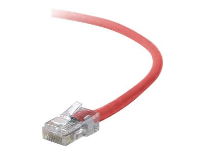 Belkin Cat5e Non-Booted UTP Crossover Cable, Red, 10ft, A3X126-10-RED