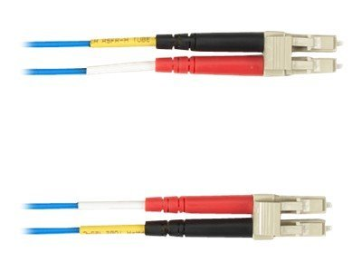 Black Box Fiber Optic Cable, 62.5 125, LC-LC, Multimode, Plenum, Blue, 5m, FOCMP62-005M-LCLC-BL