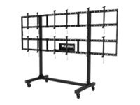 Peerless Portable Video Wall Cart 2x2 and 3x2 Configuration for 46-55 Displays