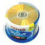 Maxell 16x 4.7GB DVD-R Media (50-pack Spindle)