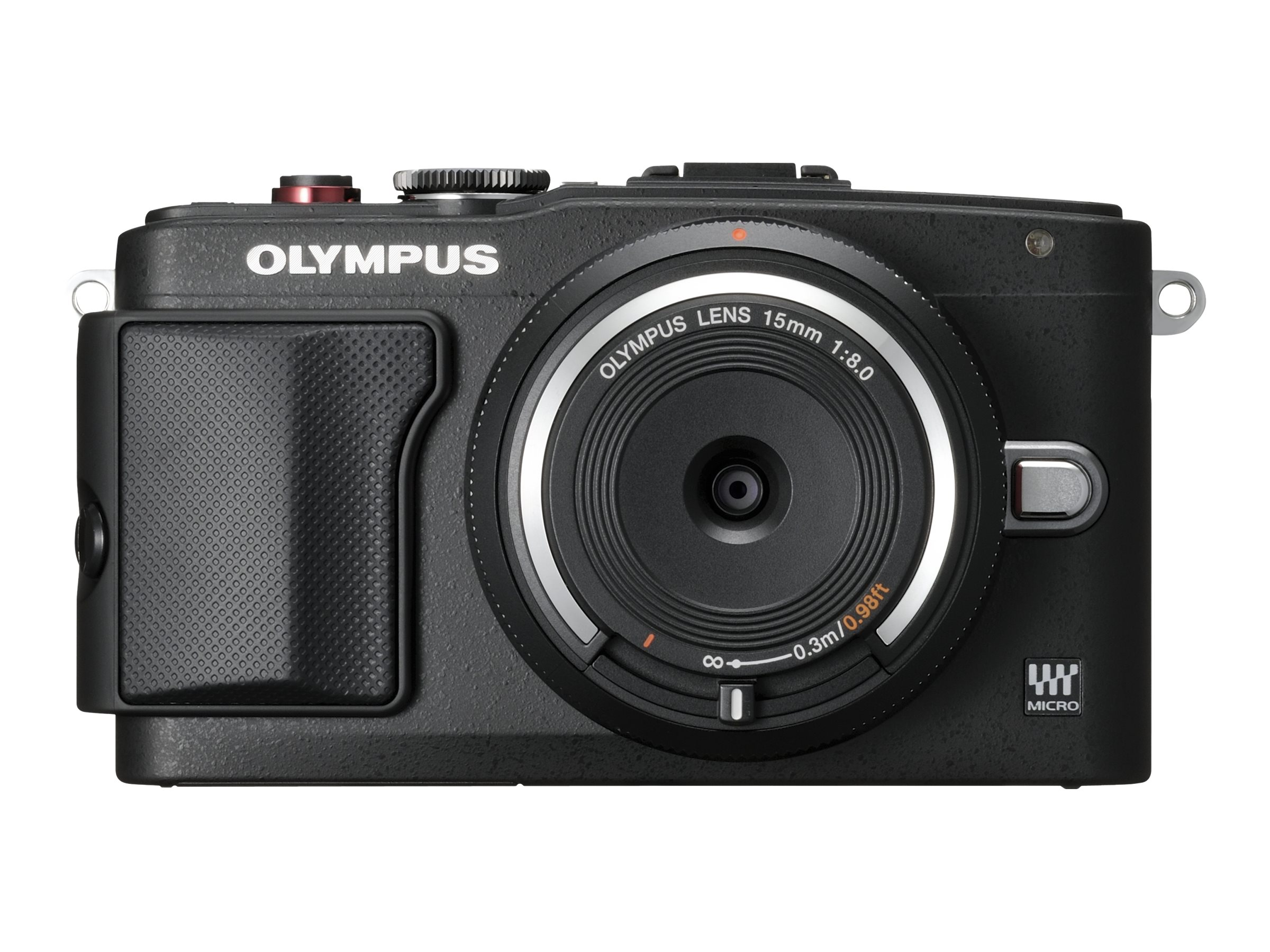 Olympus E-PL6 Mirrorless Digital Camera with 14-42mm f 3.5 II Lens, Black, V205051BU000