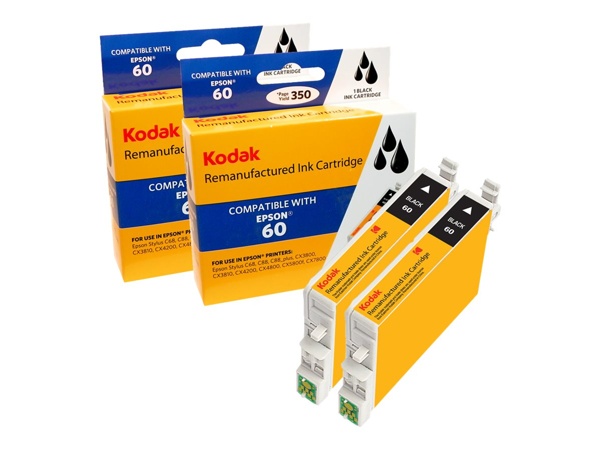 Kodak T060120BK2 Black Ink Cartridge Combo Pack for Epson Stylus C, T060120BK2-KD