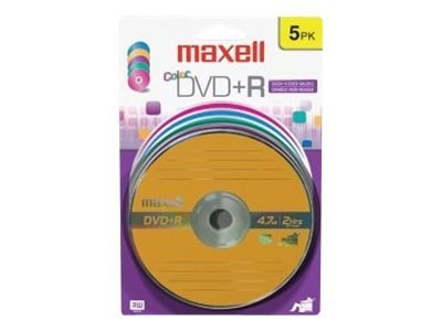Maxell 639031 DVD+R Color Card, 639031, 10239875, DVD Media