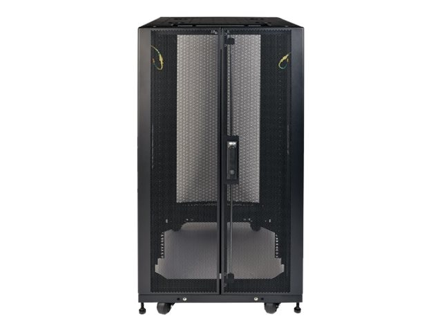 Tripp Lite SmartRack Shallow-Depth Rack Enclosure Cabinet w  Doors, Side Panels, Heavy-Duty Casters, 25U, SR25UBSD3, 30657679, Racks & Cabinets