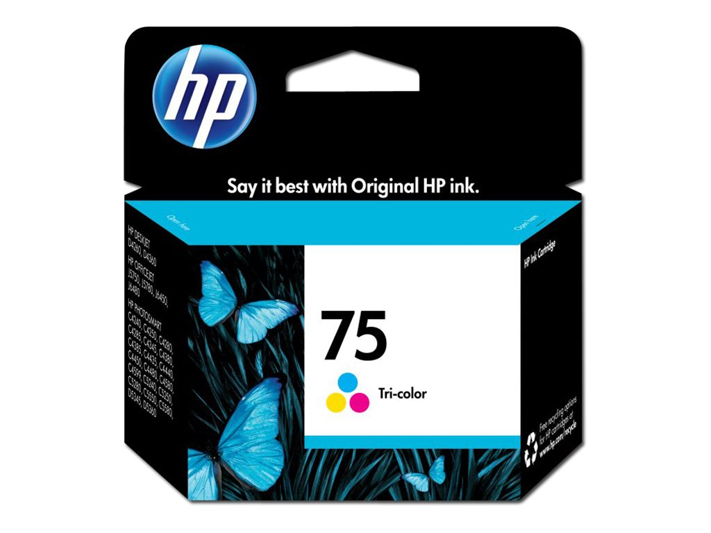 HP 75 (CB337WN) Tri-color Original Ink Cartridge, CB337WN#140, 7564511, Ink Cartridges & Ink Refill Kits