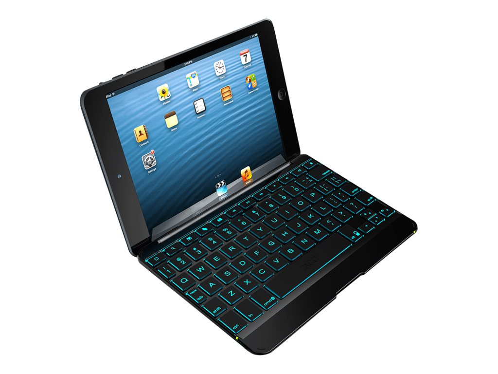 Zagg Zaggkeys Cover for iPad mini, iPad 2 3, IM2ZKC-BB0, 31208058, Carrying Cases - Tablets & eReaders