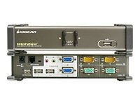 IOGEAR 2-Port DualView KVM Switch with Audio, USB Sharing with Cables