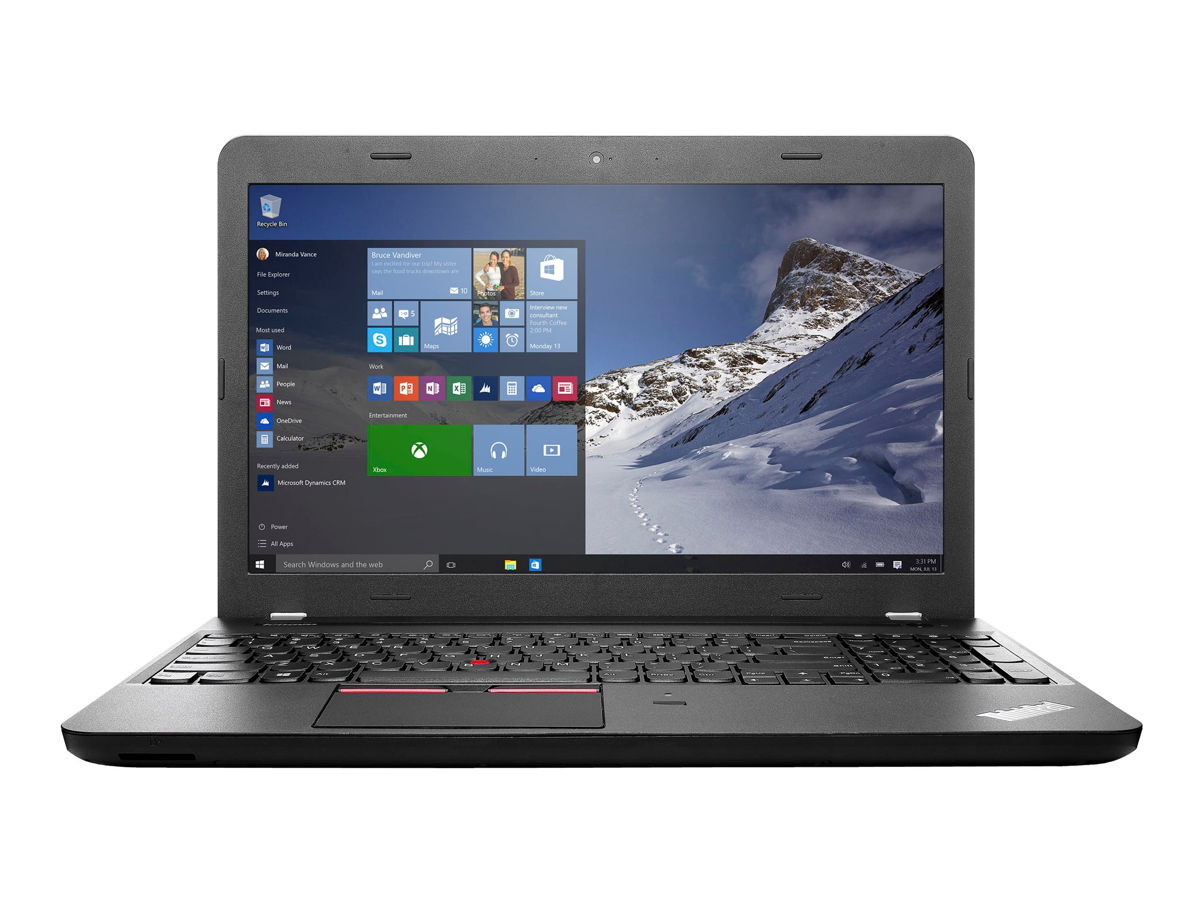 Lenovo TopSeller ThinkPad E560 2.3GHz Core i5 15.6in display, 20EV002PUS