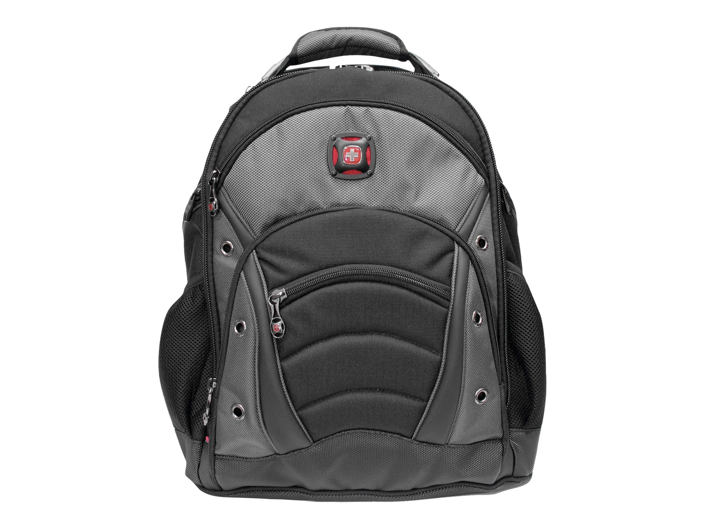 Wenger Swiss Army Synergy Backpack, Poly Nylon, Gray, Fits Most 15.6 Screens
