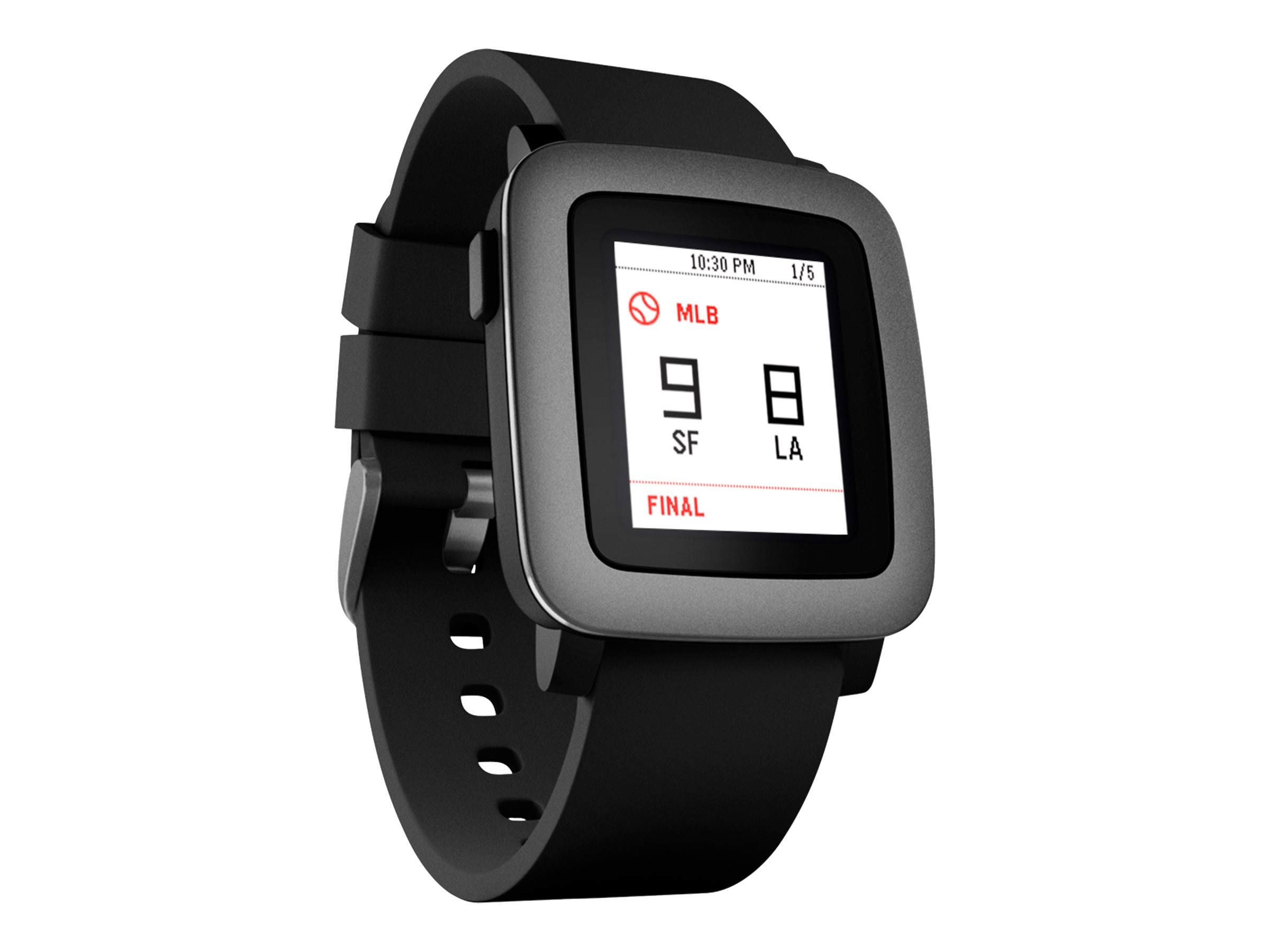 Pebble Time Smartwatch, Black, 501-00020