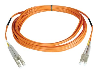 Tripp Lite Fiber Patch Cable, LC-LC, 50 125, Duplex, Multimode, Orange, 1m, N520-01M, 454657, Cables