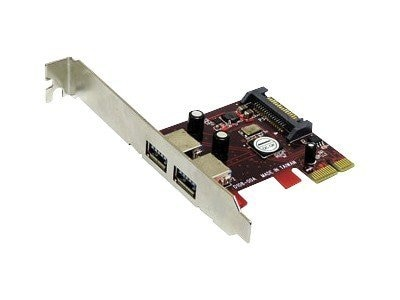 Addonics 2-port USB 3.0 PCIe 1x Controller, AD2U3PX1, 11139606, Controller Cards & I/O Boards