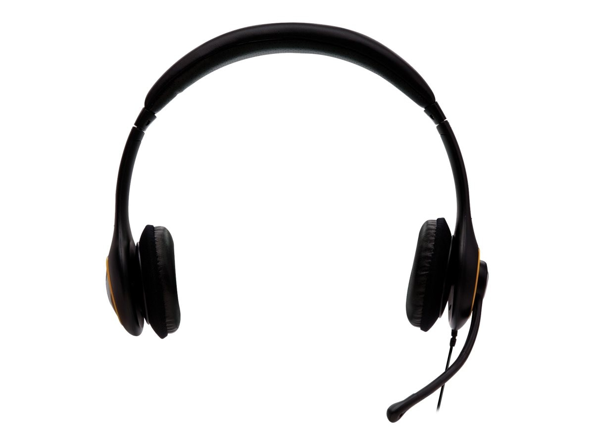 V7 Deluxe USB Headphone with Noise Cancelling Mic & Volume Control, HU511-2NP, 14265739, Headsets (w/ microphone)