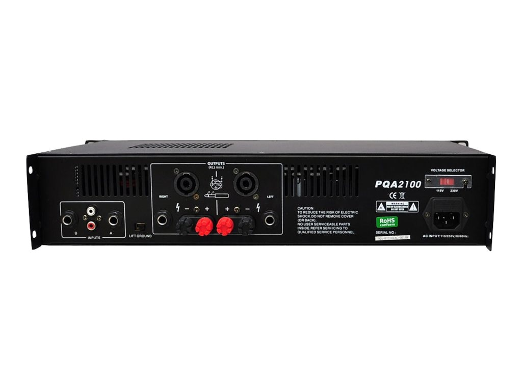 Pyle 19 Rack Mount 2100 Watt Professional Power Amplifier, PQA2100