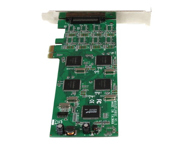 StarTech.com 8-Port Low-Profile PCI Express RS232 Serial Adapter Card with 161050 UART, PEX8S1052
