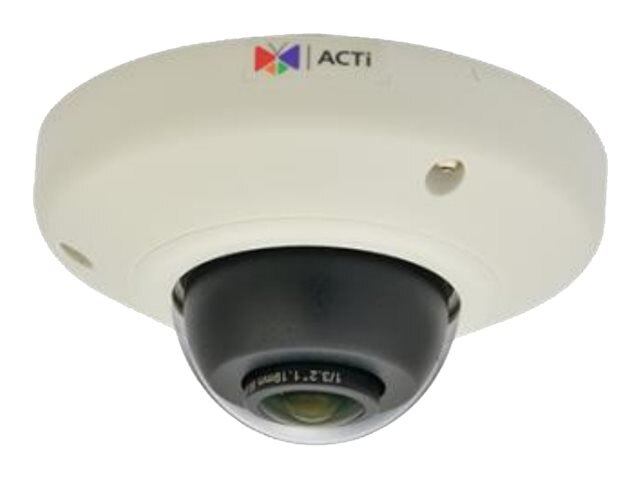 Acti 3MP Outdoor Mini Fisheye Dome with Superior WDR, M12 connector, Fixed Lens