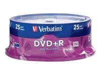 Verbatim 4.7GB 16x DVD+R Media (25-pack Spindle), 95033, 5385131, DVD Media