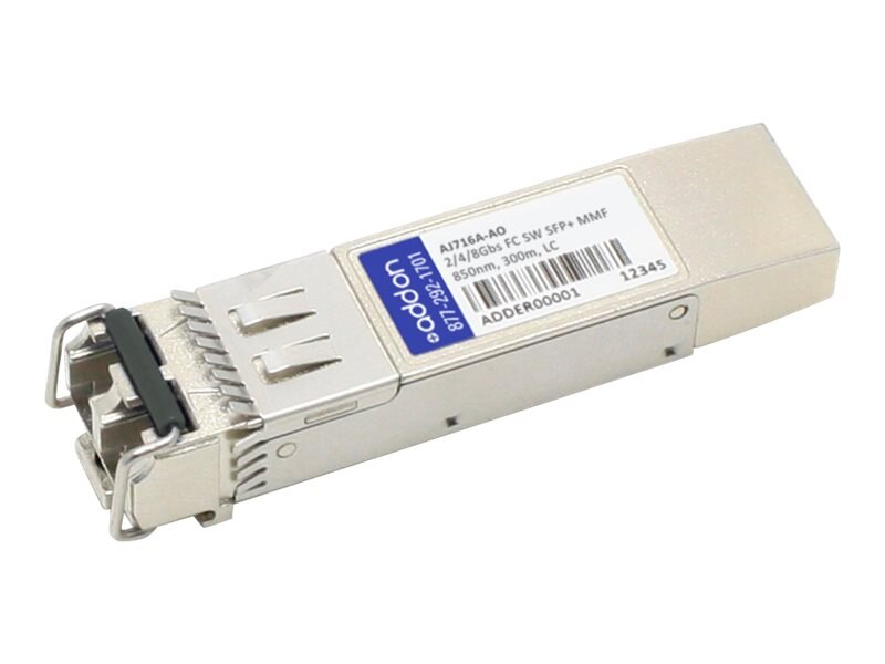 ACP-EP SFP+ 300M SW LC XCVR TAA XCVR 8-GIG SW MMF LC Transceiver for HP