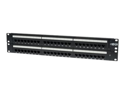 Tripp Lite 48-Port Cat6 Cat5 Patch Panel Rackmount 110 Punch Down RJ45 Ethernet 1URM 568B