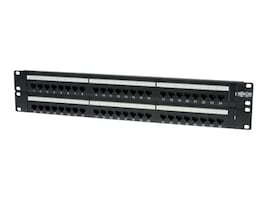 Tripp Lite 48-Port Cat6 Cat5 Patch Panel Rackmount 110 Punch Down RJ45 Ethernet 1URM 568B, N252-048, 4917078, Patch Panels