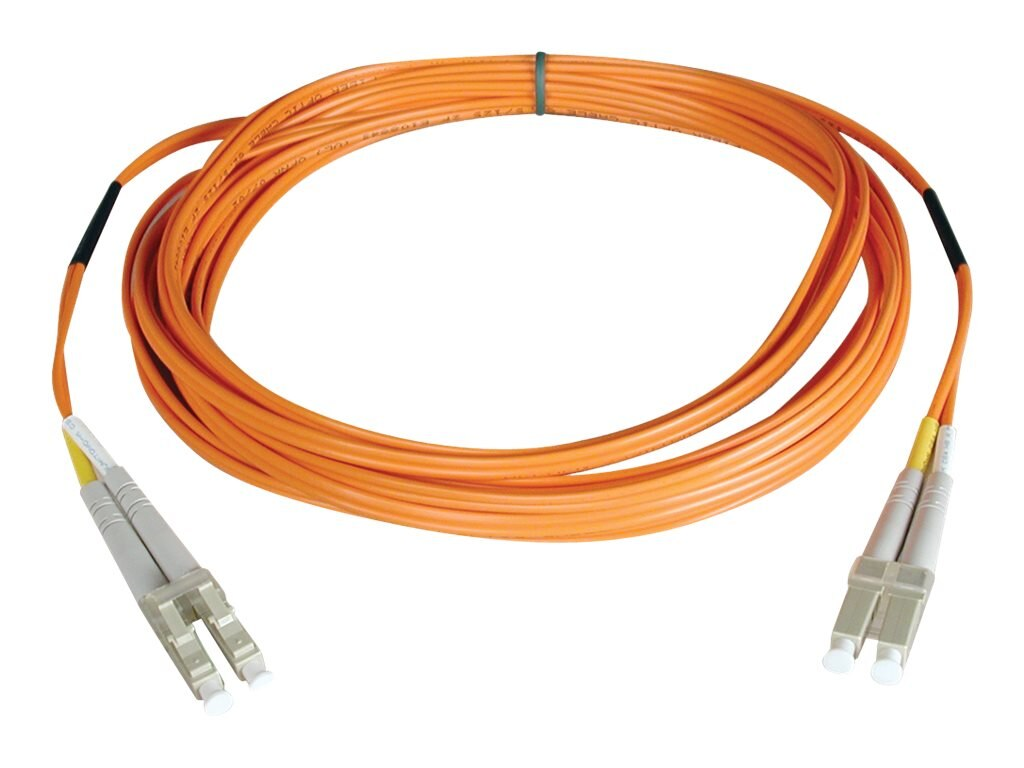 Tripp Lite Fiber Patch Cable, LC-LC, 50 125, Duplex, Multimode, Orange, 1m, N520-01M
