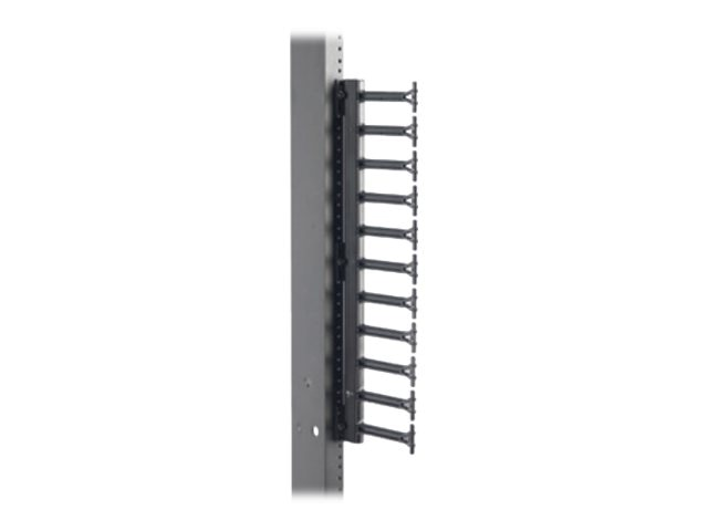 Eaton RCM+ Rack Mounted Finger Bracket, 11U, Black, SB860FSFB