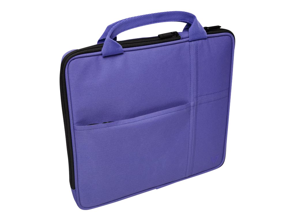 V7 Attache Slim Case for Tablet PC 9.7, iPad 1 2 3 4, iPad Air, Purple, TA20PUR-1N, 16584557, Carrying Cases - Tablets & eReaders