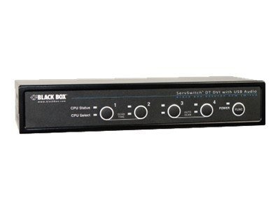 Black Box ServSwitch DT DVI w  Bidirectional Audio, 4-Port