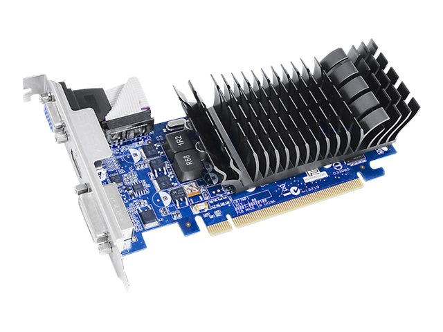 Asus NVIDIA GeForce 210 PCIe 2.0 Low-Profile Silent Graphics Card, 1GB DDR3, EN210SILENTDI1GD3V2, 13842645, Graphics/Video Accelerators