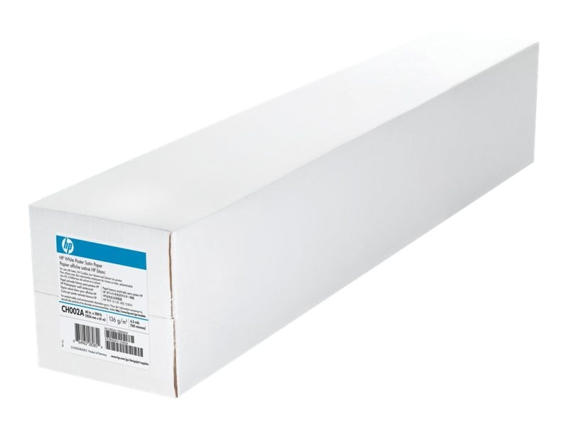 HP 60 x 200' White Satin Poster Paper, CH002A