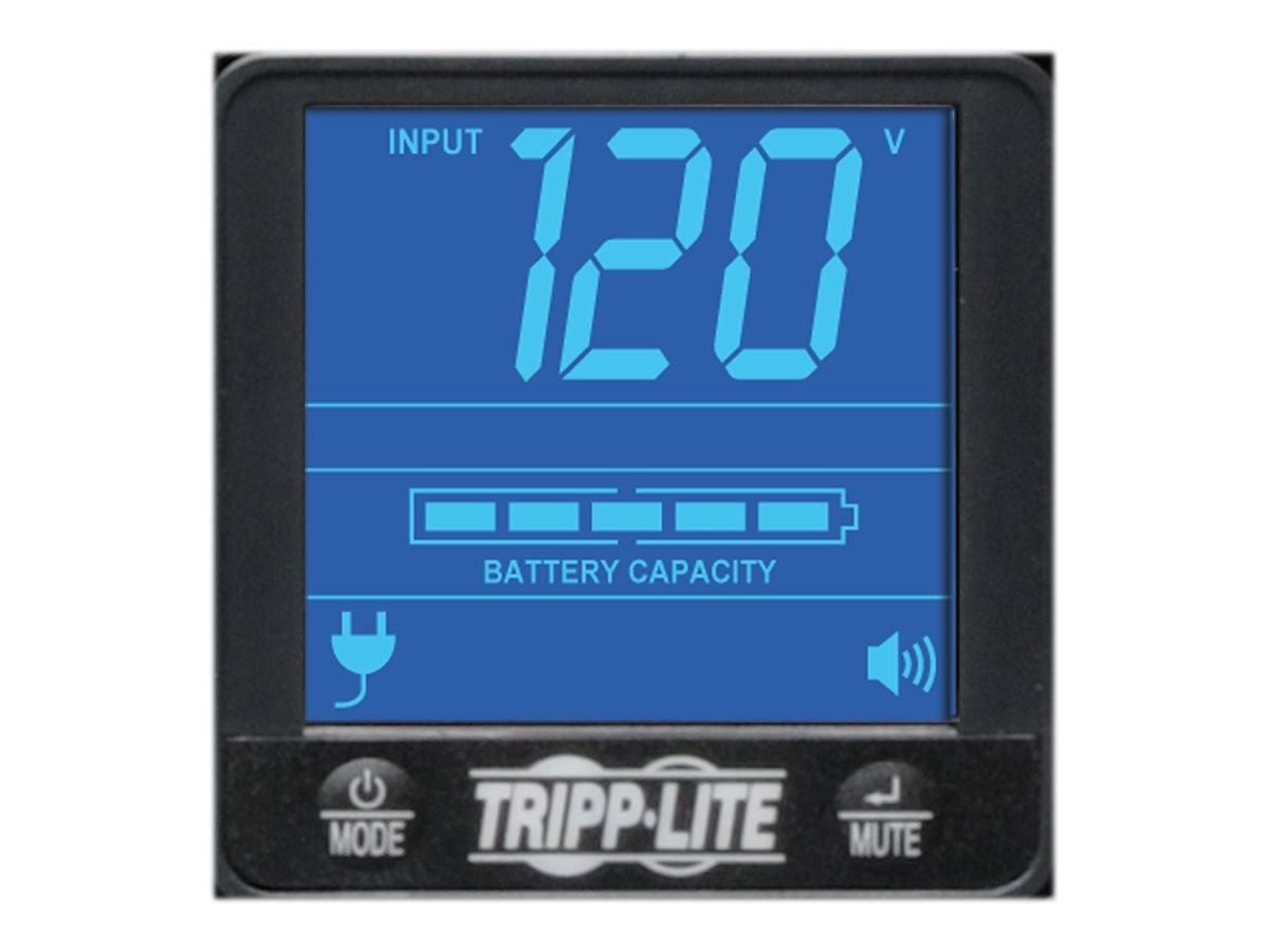 Tripp Lite 1500VA UPS Smart Pro Rack Tower Digital LCD Line-Interactive (8) Outlet, SMART1500LCD